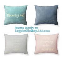 Cheap Latest design simple solid color pillow home decor cotton cushion cover,Cotton Embroidery Geometric Car Sofa Chair Bed T for sale
