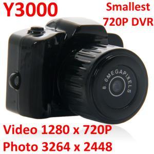 Cheap Y3000 8MP Thumb 720P Mini DVR Camera Smallest Outdoor Sports Spy Video Recorder PC Webcam for sale