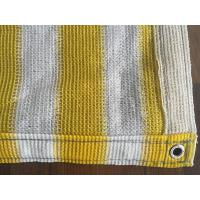 Cheap Yellow And White Anti Uv Balcony Shade Net , Hdpe Knitted Raschel Netting for sale