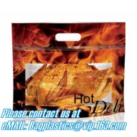 Hot chicken bags, Polypropylene Pouches, rotisserie chicken bags, Stand up Pouches