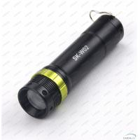 Cheap Aluminum Alloy 130Lm CREE LED Flashlight Torch With Adjustable Focus Zoom for sale