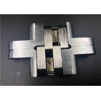 China Spring Closing Heavy Duty Concealed Hinges For Doors Satin Chrome 90° Location on sale