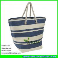 Cheap LUDA oversized handbags stripe paper straw shopping large totes for sale
