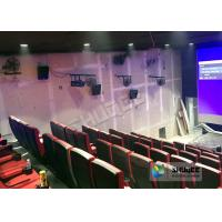 Cheap Immersive 4D Cinema Equipment With Electric System And Customized Seats Number for sale