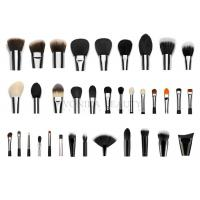 Cheap Professional  Private Label Makeup Brushes With Silver Copper Ferrule 35 pcs for sale