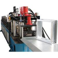 China Square Vane Smoke Damper 1.0mm Roll Forming Equipment With Chain Drive on sale