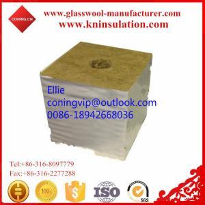 China Hydrophobic gardon rock wool cubes on sale