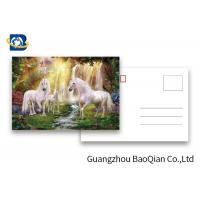 Cheap Full Color Animated Postcards , Two Sides Custom Lenticular Printing 0.6 MM PET for sale
