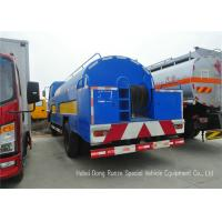 China Stainless Steel Liquid Tank Truck / Water Tanker Truck With High Pressure Jetting Pump on sale
