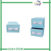 Cheap Custom Sliding Paper Gift Boxes Blue / Brown Cardboard Paper Drawer Box wholesale