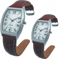 Cheap Valentine's Day Supply Couple Leather Band Quartz Watch Stainless SteeL Backcase for sale