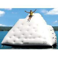 Cheap 1 Side For Sliding And 3 Sides For Climbing Inflatable Iceberg For Water Sport Games for sale