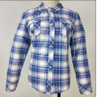 China Muti Color Ladies Fleece Jackets , Soft Ladies Cotton Check Shirt Skin Cared on sale