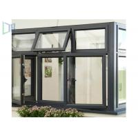 Cheap Soundproof Aluminium Casement Anodized Glass Window With Grill Design for sale