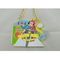 Cheap 3.5mm Color Clown Logo Personalized Carnival Medal For Kids With Gold Chain for sale