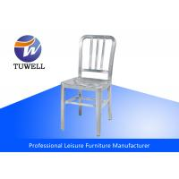 Cheap Outdoor Emeco Aluminum Navy Chairs With Plastic Foot Pad , Modern Bistro Chairs for sale