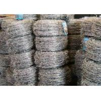 Four Barbs Galvanized Iron High Tensile Barbed Wire Fence For Highway