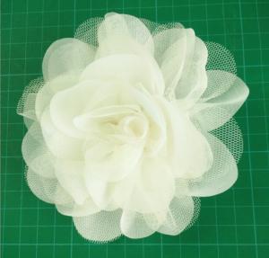 Quality Handmade Mesh Flower,circle flower used chiffon and fibula in the bottom wholesale