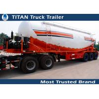 Cheap Customized Tri axle v type cement trailer , stainless steel tanker trailers for sale