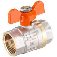 Cheap 1/2 inch brass ball valve with brass body stainless steel butterfly handle and CE approved for sale
