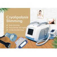 Cheap Mini Cryolipolysis Slimming Machine / Weight Loss And Skin Tightening Vacuum Cavitation System for sale
