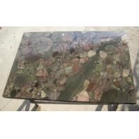 Cheap Exotic Polished Natural Slate Wall Tile , Multi Color Granite Wall Tiles for sale