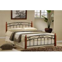China hotsell bedroom furniture metal iron bed with wood slats(ML-07) on sale