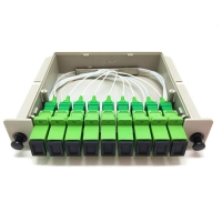 Buy cheap Fiber Optic FTTH PLC Splitter Box With Sc 1X2 1X4 1X8 1X16 Waveguide Type from wholesalers
