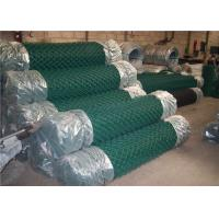 Cheap Sport Field Plastic Coated Chain Link Fencing , 9 Gauge Chain Link Wire Mesh Fencing for sale