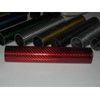 China colorful glass fiber mixed  hybrid carbon fiber pipe/tube for   Decorating on sale