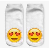 China Custom logo, design new Emoji 3D Digital Printed Fashion Womans Cute Funny Ankle Print Sublimation Socks on sale