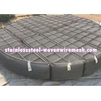 China Round Nickel Wire Mesh Demister Pad Mist Eliminator For Chemical Equipment on sale