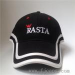 Cheap 【FUJUE】long peak baseball cap,high quality golf caps OEM embroidery cotton hats, black cap for sale