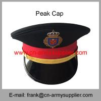 Wholesale Cheap China Army Gold Metal Color Police High Rank Officer Service Cap