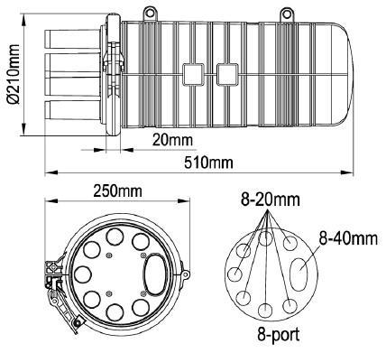 pc plastic dome type fiber optic junction box heat