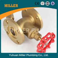 Cheap flange type brass stop valve made in yuhuan miller plumbing ml-1407 for sale