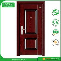 Cheap Competitive Luxury Steel Door China Low Prices Modern Industrial Security Steel Door with Galvanized Handle for sale