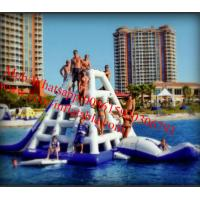 Cheap Commercial Grade Floating 0.9mm PVC Tarpaulin Inflatable Water Slide for water park for sale
