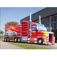 Cheap Wholesale Outdoor Inflatable Truck Obstacle Course Challenge for sale