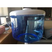 Cheap Blue Translucent Filtered Water Dispenser , 8L Food Grade Flat PP Water Tank for sale