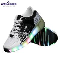 Cheap New style comfortable led light up kids roller skate shoes wholesale