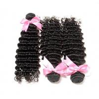Buy cheap Natural Black Brazilian Hair Bundles Extensions Deep Weave No Tangle from wholesalers