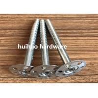 China Galvanized Steel Rock Wool Insulation Anchor pins With 35mm Round Washer Base on sale