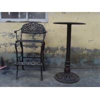 Cheap Classic Metal Cast Iron Table And Chairs Black For Home Decoration for sale