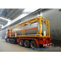 China 51.5 cbm 40 Feet 16MnDR LPG Tank Container Transport Semi Trailer on sale