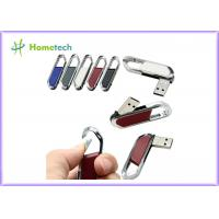 Cheap High Speed Leather USB Flash Disk 64gb / USB 2.0 Pen Drive 4gb With FCC RoHS Standard wholesale