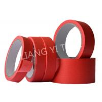 Cheap Red Crepe Paper Paper Masking Tape Strong Holding Power / No Adhesive Residue for sale