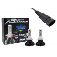 Buy cheap X3 9006 Extra Bright Headlight Bulbs 50W 6000LM 350 Degree Emitting Angle from wholesalers