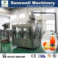 Buy cheap Constant Pressure Hot Filling Machine , 3 In 1 Juice Production Line from wholesalers