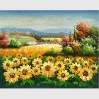 Custom Palette Knife Oil Painting Handmade Canvas Sunflowers Room Decor